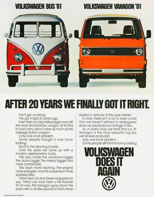 1981 Vanagon Ad