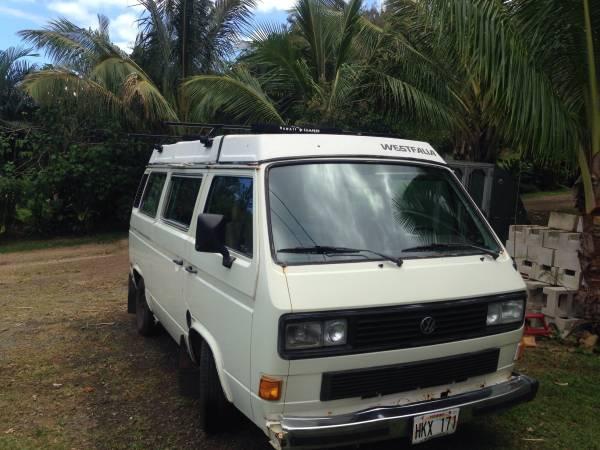 1986 VW Vanagon Westfalia Camper For Sale in North shore HI